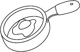 pan clipart frying pan bw