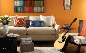 Phenomenal Wall Painting For Living Room Casual Living Orange Wall