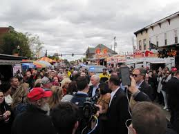 Circleville Pumpkin Festival by Ohio Pumpkin Show Voters Flock To Shake Hands With Pence As He
