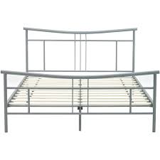 Wayfair Metal Queen Headboards by Chelsea Metal Queen Size Platform Bed Frame In Matte Nickel