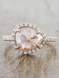 Audrix Rustic Pink Diamond Rose Gold Ring