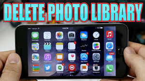 HOW TO DELETE THE PHOTO LIBRARY IPAD IPHONE IOS [ WINDOWS MAC OSX