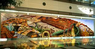 Denver International Airport Murals Artist by Concrete History Chicana Muralist Judith F Baca Goes From The