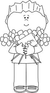 Happy Mother s Day Clip art Black and White