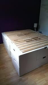 Platform Bed With Storage Plans by Best 25 Platform Bed Storage Ideas On Pinterest Bed Frame