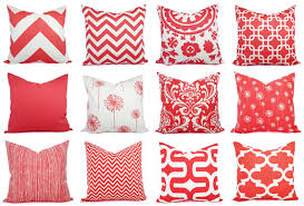Coral Colored Decorative Items by 15 Off Sale Two Coral Throw Pillows Dandelion Pillows
