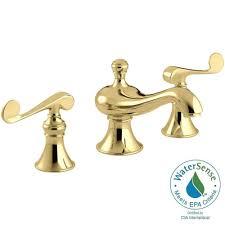 kohler iv georges brass 8 in widespread 2 handle low arc bathroom