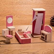 horbous puppenhausmöbel set holz puppenhaus kinderzimmer badezimmer schlafzimmer wohnzimmer küche miniatur möbel zubehör puppenhausmöbel holz