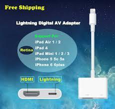 Original Genuine Lightning to AV HDMI HDTV TV Digital Adapter for