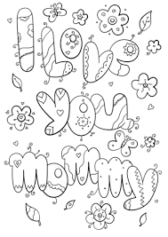 Click To See Printable Version Of I Love You Mommy Coloring Page