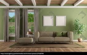 lizenzfreies foto 27628784 grünes wohnzimmer mit modernem