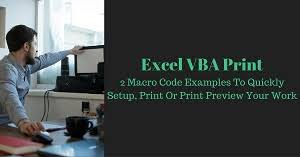Excel VBA Tutorial About How To Setup Pages Print And Preview