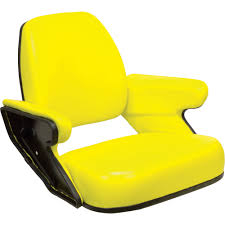 K & M Open Station Tractor Seat — Yellow, For John Deere Tractors, Model#  7896 Carbon Loft Ewart Grey Cast Iron Tractor Seat Stool 773d Lrs Innovates With Driving Simulator Air Force Safety Center Falk Kubota Pedal Backhoe Excavator Ultimate Racing Gaming Simulator Frame By Milltek Innovation For Bucket Triple Screen Ps4 Xbox Ps3 Pc Chair Virtual Reality Home Of Racing Simulator Flight Simulators Hyperdrive 4wheel Steering Lawn X739 Signature Series John Deere Ca Saitek Farm Controller Axion 960920 Tractors Claas Inside New Holland Boomer 47 Cab Tractor Farmmy Logitech Farming Heavy Equipment Bundle For Complete Universal Products 30100054 Play Ets2 Using Wheel