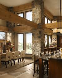 100 Rustic Ceiling Beams Special Furniture Design Dining Room With Stone Pillars And