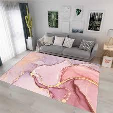 rosa gold abstrakte 3d teppich teppich ölgemälde romantische wohnzimmer schlafzimmer nacht mädchen moderne lila flur floral boden matte