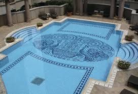marvelous vintage swimming pool tile with vintage metal outdoor