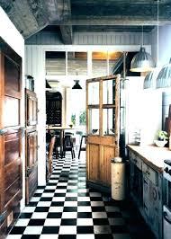 carrelage cuisine noir et blanc carrelage cuisine blanc et noir sols cuisine chaises bar carrelage
