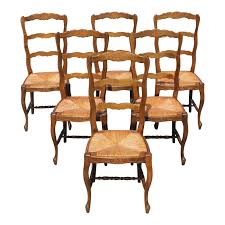 Beautiful Set Of 6 French Country Rush Seat Solid Walnut Dining Chairs . Refinished Painted Vintage 1960s Thomasville Ding Table Antique Set Of 6 Chairs French Country Kitchen Oak Of Six C Home Styles Countryside Rubbed White Chair The Awesome And Also Interesting Antique French Provincial Fniture Attractive For Eight Cane Back Ding Set Joeabrahamco Breathtaking