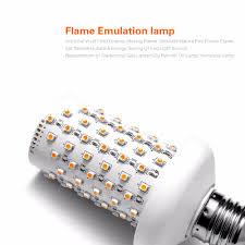 effect led l bulb dynamic burning flickering light