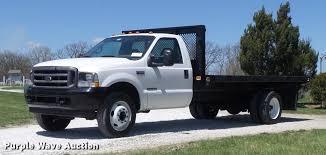 100 F550 Truck 2002 Ford Super Duty XL Flatbed Truck Item DC7328 S