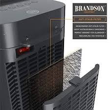 brandson heizlüfter mit fernbedienung keramik heizstrahler badezimmer energiesparend leise schnellheizer mit oszillationsfunktion 2x