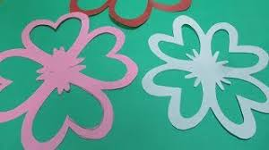 How To Make Simple Easy Paper Cutting Flower Designs