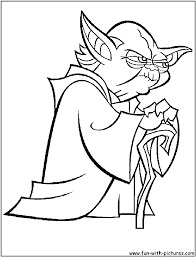 Star War Pictures To Color New Yoda Coloring Page