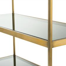 casa padrino luxury shelf cabinet brass gray 95 x 40 x h 225 cm stainless steel cabinet with 5 glass shelves office furniture living room