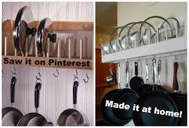 DIY Project Pot Rack with Lid Storage