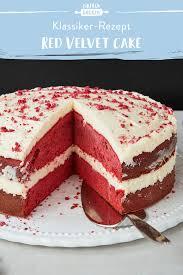 velvet cake schnell einfach mit frischkäse frosting