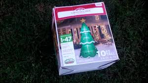 Walgreens Singing Christmas Tree by Gemmy Inflatable Christmas Tree Unboxing And Test And Review From