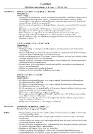 Download Senior Contract Manager Resume Sample As Image File
