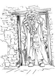Hagrid Out Of Doors Coloring Pages