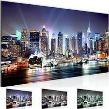wandbild modern wohnzimmer new york city bunt