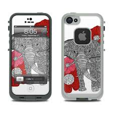 Lifeproof iPhone 5 Case Skin The Elephant by Valentina Ramos