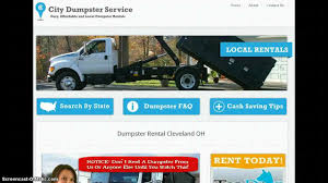 100 Truck Rental Cleveland Dumpster OH YouTube