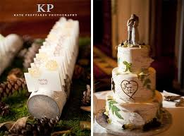 Birch Tree Wedding Cake Example