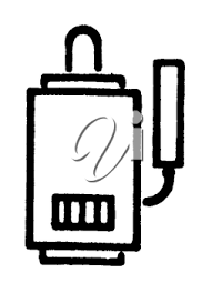 Royalty Free Clipart Image Of A Furnace