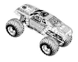 Monster Truck #23 (Transportation) – Printable Coloring Pages