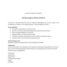 Warehouse Delivery Driver Job Description In Pdf. Categories ...