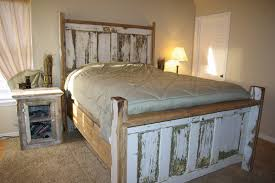 Bedroom. Varnished Reclaimed Wood King Bed Frame Which Slicked Up ... Stained Concrete Floors That Look Like Barn Wood To Get The Color Barn Siding Ideas Siding Accents Dormer And Tower Of A Plantation Shutter Company Introduces Wood Shutters Old Used Background In Vintage Style Stock Photo Create Beautiful Reclaimed Door From An Ugly Bifold Marble Countertops Kitchen Cabinets Lighting Flooring Gardners 2 Bgers Faux Bee Lieve Sign How I Reclaimed 354 Best Porter Barn Wood Custom Projects Images On Pinterest Man Den Entrance To Bathroom Via Rusted Corrugated 58 Off Pottery Coffee Table Tables