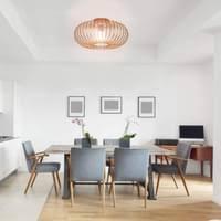 costway deckenleuchte antik deckenle retro le vintage metall ideal fuer wohnzimmer kueche kupferfarben 60w e27 fassung