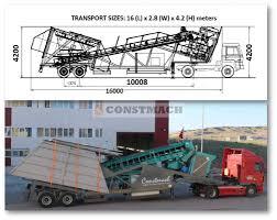 100 Concrete Truck Capacity Used Constmach MOBILE 60 For Sale In Turkey Kitmondo