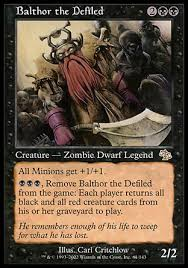Mtg Commander Decks 2014 by Balthor The Defiled Is The Best Monoblack Commander No Contest