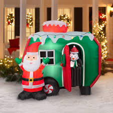 Rv Christmas Decorations Campers Lovely 6 Animated Airblown Inflatable Santa And Pop Out Penguin