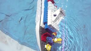 sinking lego boat youtube