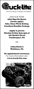 100 Truck Lite Wellsboro Pa Hiring 22819pdf Gazette Tiogapublishingcom