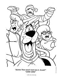 Scooby Doo Colouring Pages