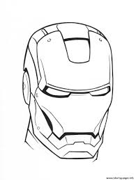 Iron Man Helmet See58 Coloring Pages Printable