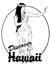 Discover Hawaii Colouring Page